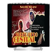 Super Hero Central Shower Curtain by The Scott Shaw Poster Gallery