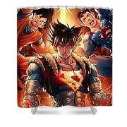 Super Heros  Shower Curtain