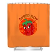 Super Hot Pepper Diva Shower Curtain