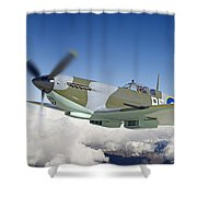 Super Marine Spitfire Shower Curtain