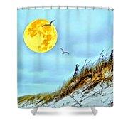 Super Moon 09-27-15 Shower Curtain