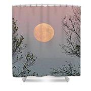 Super Moon At Twilight Shower Curtain