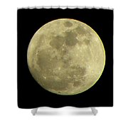 Super Moon March 19 2011 Shower Curtain by Sandi OReilly