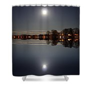 super moon night   Connecticut  Shower Curtain
