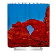 Super Moon Over Arches National Park Shower Curtain