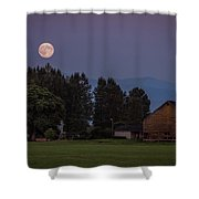 Super Moon Over Snohomish Shower Curtain
