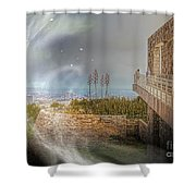 Super Natural Aliens Are Coming Getty Museum  Shower Curtain