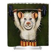 Super Rat Shower Curtain