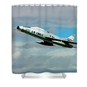 Super Sabre North American F-100  Shower Curtain