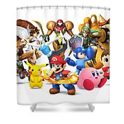 Super Smash Bros. For Nintendo 3ds And Wii U Shower Curtain