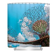 Super Tree Grove- Gardens By The Bay Shower Curtain