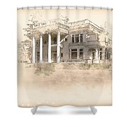 Superintendent's Home Drawing Shower Curtain