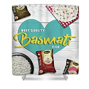 Superior Quality Basmati Rice Importers In New Zealand - Kashish Food Shower Curtain