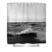 Superior Waves Shower Curtain