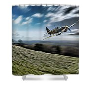 Supermarine Spitfire Fly Past Shower Curtain