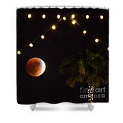 Supermoon And Twinkle Lights Shower Curtain