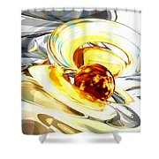 Supernova Abstract Shower Curtain