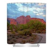 Superstition Mountains Arizona Shower Curtain