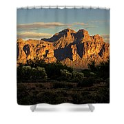 Superstitions At Sunset  Shower Curtain