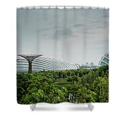Supertrees At Gardens By The Bay Shower Curtain