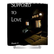 Supposed To Love Book Cover Shower Curtain