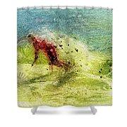 Surf Art Shower Curtain