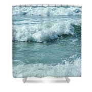 Surf At Duckpool Cornwall Shower Curtain