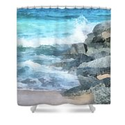 Surf Break Shower Curtain