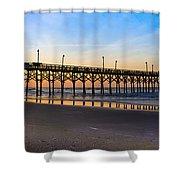 Surf City Fishing Pier Shower Curtain