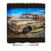 Surf City Here We Come Shower Curtain