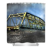 Surf City Nc Swing Bridge Shower Curtain