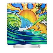 Surf Dude Shower Curtain