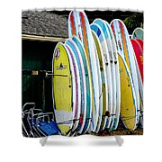 Surf Lessons Shower Curtain