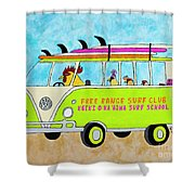 Surf School Shower Curtain