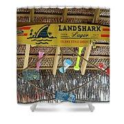 Surf This Tiki Hut Shower Curtain