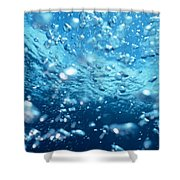 Surface Bubbles Shower Curtain