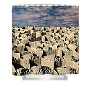 Surface Of Another World Shower Curtain