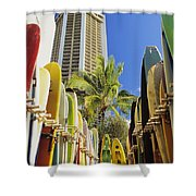 Surfboard Stack Shower Curtain