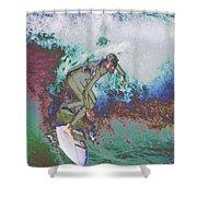 Surfer 3 Shower Curtain