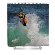Surfer Action Hawaii Shower Curtain