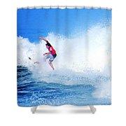 Surfer Alex Ribeiro - Nbr 3 Shower Curtain