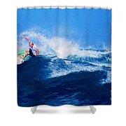 Surfer Charles Martin Nbr. 3 Shower Curtain