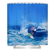 Surfer Charles Martin Shower Curtain
