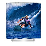 Surfer Dude Catching A Wave Shower Curtain