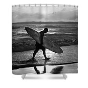 Surfer Heading Home Shower Curtain
