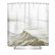 Surfers In Ocean Mist Shower Curtain