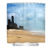 Surfers Paradise On A Stormy Day Shower Curtain
