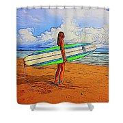 Surfing 19518 Shower Curtain