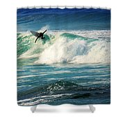 Surfing Asilomar Two Shower Curtain