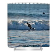 Surfing At Hampton Nh Shower Curtain